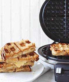 Use your waffle iron for more than just breakfast--this tells you how to make quick grilled cheese and calzones in there!