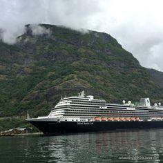 Holland America's Koningsdam Cruise Ship in Flam, Norway