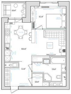 дизайн интерьера однокомнатной квартиры 40 кв.м фото - Поиск в Google