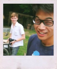 His glasses! And Thomas' smile