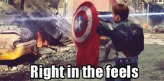 captain america right in the feels. In other words, what you'll feel when watching Winter Soldier. <-beyond accurate