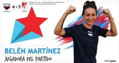 JUGADORA DEL PARTIDO: Belén Martínez  Llevó al Extremadura a la victoria. Enhorabuena!!  #soloparavalientes