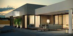 Projekt domu HomeKoncept-58 141,68 m2 - koszt budowy - EXTRADOM White Pergola, Small Pergola, Pergola Attached To House, Wooden Pergola, Pergola Patio, Pergola Canopy, Pergola Plans, Pergola Ideas, House Design Pictures