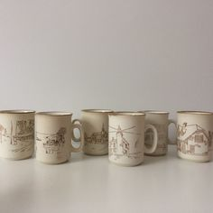 vintage coffee cups, collection manoir coree mug set  shop https://www.etsy.com/ca/listing/504592847/set-of-6-o-collection-manior-coree-mug