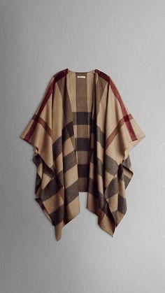Burberry check cashmere cape