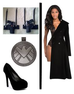 Agent of S.H.I.E.L.D. by dadyrabbit on Polyvore featuring polyvore fashion style Temperley London L'Agent By Agent Provocateur Qupid outfit black of agent SHIELD