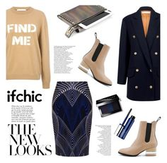 """""""SURREAL BUT NICE long jacket"""" by ifchic ❤ liked on Polyvore featuring Surreal But Nice, Dear Frances, C/MEO COLLECTIVE, Anja, Mohzy, Bobbi Brown Cosmetics and Clinique"""