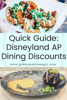 Disneyland AP Dining discounts at your fingertips! Save the quick guides for Disneyland, DCA, Downtown Disney and Disneyland Resort hotel dining in this post! #disneyland #disneydining #disneylandresort