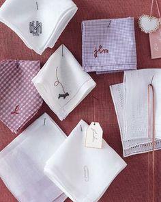 Martha Stewart: Embroidered Handkerchiefs How-To