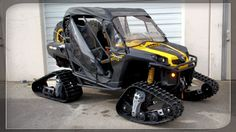 Can Am Commander on tracks 4 Wheels Motorcycle, Quad, Snow Toys, Go Kart Buggy, Can Am Commander, Four Wheelers, Dirtbikes, Small Cars, Road Bikes