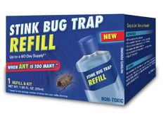 The Original Indoor Stink Bug Trap Refill by nth Solutions by nth Solutions. $9.95. Refill attractant for The Original Indoor Stink Bug Trap. 100% food grade product. Up to a 60 day supply. Includes: a concentrated bottle of refill attractant, a measuring spoon, trap container and lid.. Non-toxic. Refill attractant for The Original Indoor Stink Bug Trap.  Refill package contains a concentrated bottle of refill attractant, a measuring spoon and a trap container and lid. ...