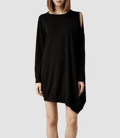 Womens Sago Sweater Dress (Charcoal) - product_image_alt_text_1
