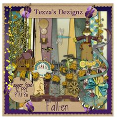 Fall/Autumn tagger kit called Fall-en, and matching brag book pages.