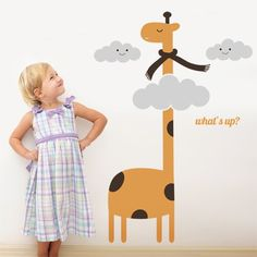 Mommy, What sound does a giraffe make? Easy Decoration with Vinyl Wall Decal Giraffe Modern Wall Decals, Kids Wall Decals, Vinyl Wall Stickers, Wall Decal Sticker, Kids Room Design, Wall Design, Jungle Scene, Cool Wall Art, Nursery Room