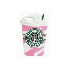 Thunderous Pink Starbucks Coffee Ice Cream Silicone Back Cover Case... ❤ liked on Polyvore featuring accessories, tech accessories and phone cases