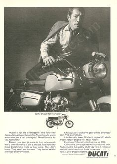 """DUCATI 160 Monza Jr 1966 Photo Ad """"Is The Ducati For Everyone"""", Vintage Motorcycle Advertising Wall Art Decor Print"""