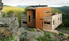 Shipping Container Off The Grid Home Exterior - Colorado
