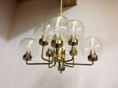 Tolve Art&Design offers Glass and brass fifties chandelier