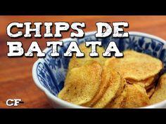 Aprenda a fazer chips de batatas no micro-ondas de casa.