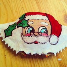 Items similar to Crab Ornament Hand Painted Santa Claus, Vanilla or Chocolate on Etsy Seashell Painting, Seashell Art, Seashell Crafts, Beach Crafts, Nautical Christmas, Handmade Christmas, Beach Christmas, Christmas Ornaments, Seashell Ornaments