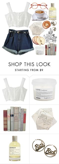 """""""☽this city claims the crazy, and there's no one here to save me, everything decays unless it's true☽"""" by eveebaptiste ❤ liked on Polyvore featuring beauty, Davines, Dot & Bo, Le Labo and Joyrich"""