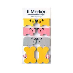Mini Dog Index Marker / Sticky Notes / Removable Adhesive by HKLTD