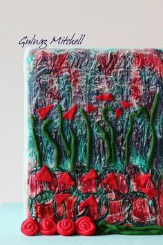 Abstract art cake (Sugar Art for Autism collaboration) by Gulnaz Mitchell