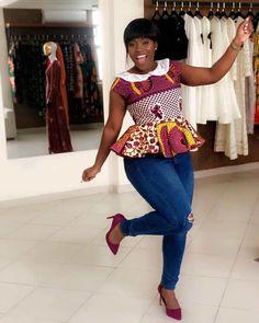 Classiest ankara peplum top designs and styles of 2018 for ladies. Beautifully made ankara peplum top designs African Fashion Ankara, Latest African Fashion Dresses, African Print Dresses, African Print Fashion, African Dress, African Prints, African Print Peplum Top, Ghanaian Fashion, Latest Fashion