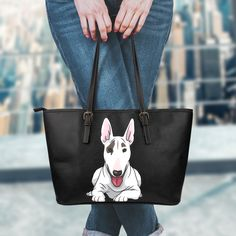 Bull Terrier Lovers! Be the style icon with these unique Bull Terrier bags. Amazing quality and hundreds sold.  - High quality water resistance material - Durable, long lasting carrying straps. - Multiple interior compartments for item storage