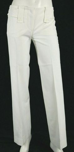 BNWT NEXT white casual smart cotton stretch summer relaxed wide leg trousers R//L