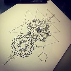 blackwork tattoo geometric - Поиск в Google