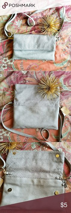 Small Shoulder or Crossbody Bag Small Shoulder or Crossbody Bag.  Measures approximately 13 inches by 8 inches.  Strap is adjustable and removable.  NWT.  It's taupe in color Bags Crossbody Bags