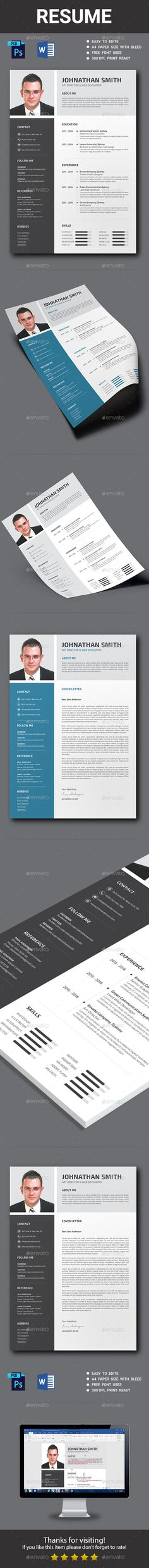 Resume Template PSD, Vector EPS, AI Download here   - resume template psd