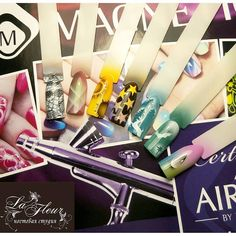 Airnails by Magnetic Designs #airbrush #nailart