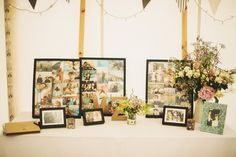 Image by Andy Gaines - Rustic Marquee Wedding At Mallard Grange In Yorkshire With A Dusty Pink, Cream And Grey Colour Scheme With Bride In Gown From Eternity Bridal With A Vintage VW Camper Van