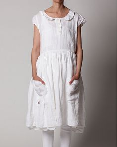 ewa i walla - linen dress + collar
