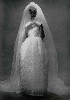 Vintage bride, 1960.  Gown by Lanvin-Castillo