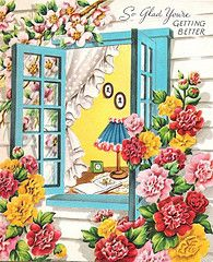 So glad you're getting better. #vintage #get_well #cards