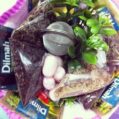 Bouquet of tea with sweets :)