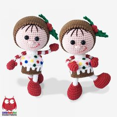 Doll In A Christmas Muffin Outfit Amigurumi Pattern