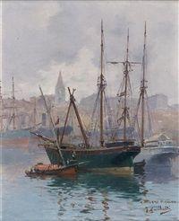 Vue depuis le port de Marseille by Joseph Garibaldi