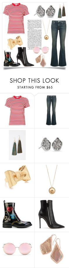 """""""Think Yourself"""" by kristeen9 ❤ liked on Polyvore featuring RE/DONE, Nili Lotan, Eddie Borgo, Kendra Scott, Kate Spade, Vanessa Mooney, Dolce&Gabbana, Gianvito Rossi and Matthew Williamson"""