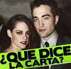 Kristen Stewart ENVIA CARTA a Robert Pattinson ¡Te decimos que le dijo!, Noticias, chismes, chismes de famosos, noticias de celebridades, cotilleo, Gossip, News, Famosos, Estrellas
