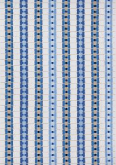 SRI LANKA EMBROIDERY, Blue, W788711, Collection Trade Routes from Thibaut