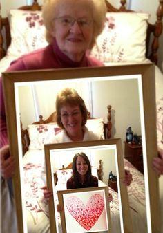 Three Generations Family Photo - Grandma, Mother, Daughter