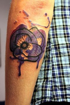 Violet tattoo by German artist Peter Aurisch    Your body is a canvas... I love the idea of taking this literally.