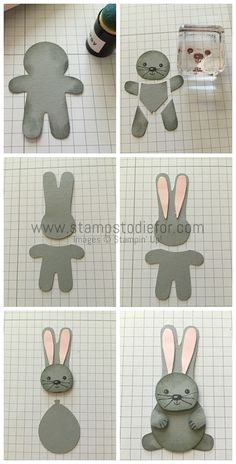 Cookie Cutter Christmas Stamp Set & Cookie Cutter Builder Punch - Easter Bunny Card How to Pattern  www.stampstodiefo...