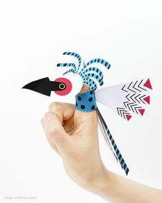 DIY Toy : DIY Bird Finger Puppets
