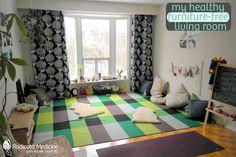 Furniture-free living room