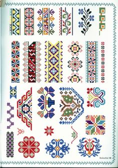 Gallery.ru / Фото #42 - 40 - logopedd Cross Stitch Borders, Cross Stitch Charts, Cross Stitch Designs, Cross Stitch Patterns, Hand Embroidery Designs, Embroidery Art, Cross Stitch Embroidery, Embroidery Patterns, Palestinian Embroidery